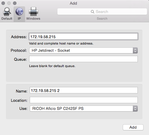 how to change printers on a mac