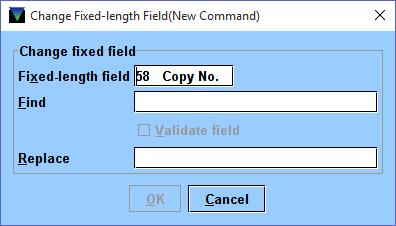 3 Global Update Change Fixed Field Window