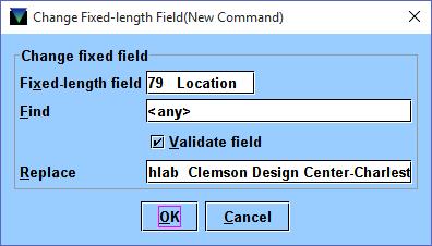4 Global Update Change Fixed Length Field 2
